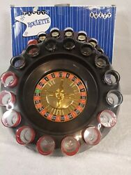 Buzzy Casino Roulette Shot Glass Drinking Game Party 2 Balls 16 Shot Glasses