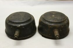 Vintage 1920's E And J Edmund And Jones Electric Headlight Buckets Model T Era Ford