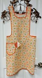 Vintage Floral Full Bib Apron - Fruit Of The Loom - New With Tag