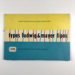 Types Ludwig And Mayer Tipos | Portfolio Catalogue Type Specimens Probably 1950s