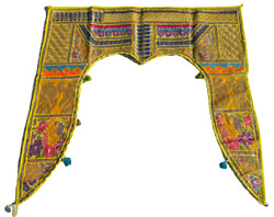 Door Hanging Valance Gate Topper Indian Traditional Toran Embroidered Handmade