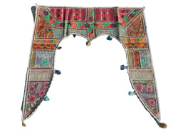 Indian Traditional Toran Embroidered Handmade Door Hanging Valance Gate Topper