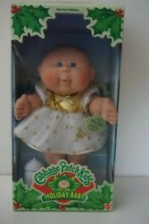 Cabbage Patch Kid 1997 Holiday Baby Girl Pammie Gayla Dec 30 Blue Eye Bald 17605