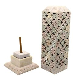 7 Antique Soapstone Candle And Incense Holder Filigree Inlaid Design Gift Decor