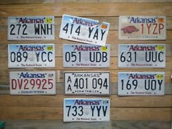 Arkansas Expired Lot Of 10 Craft Grade License Plates Auto Tags 272 Wnh
