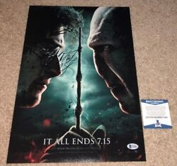 Daniel Radcliffe Signed 12x18 Movie Poster Photo Harry Potter It All Ends Bas
