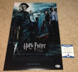 Daniel Radcliffe Signed 12x18 Movie Poster Photo Harry Potter Goblet Fire Bas