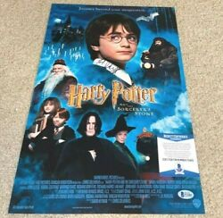 Daniel Radcliffe Signed 12x18 Movie Poster Photo Harry Potter Sorcerers Bas