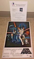 Harrison Ford Signed 12x18 Poster Photo Star Wars A New Hope Han Solo Bas