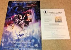 Harrison Ford Signed 12x18 Poster Photo Star Wars Empire Strikes Back Bas