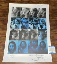 Natalie Portman Signed Jackie Movie Lithograph 18x24 Poster Photo Star Wars Bas