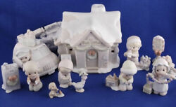 Sugar Town Post Office 8 Piece Collection Set Precious Moments Rare Brand New