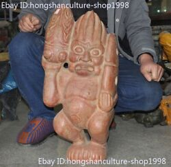 Old China Chinese Old Jade Hand Carved Yubi Animal Cicada People The Man Statue