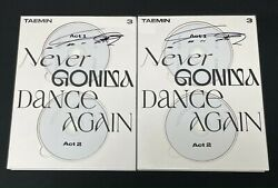 Taemin Autographed Never Gonna Dance Again 3rd Extended Album Signed Promo Cd