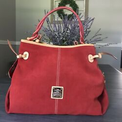 DOONEY AND BOURKE MAURIZIA SUEDE BAG STUNNING RED NWT $160.00