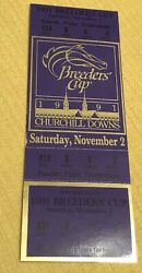 1991 Churchill Downs Breeders Cup Horse Racing Ticket 175 Face Black Tie Affair