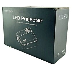 1080p Hd Led Projector For Home Theater Small Portable Size Topvision T6