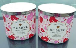2 Bath And Body Works Be Mine Valentine Pink Fairy Gumdrop Scent3 Wick, Candle's