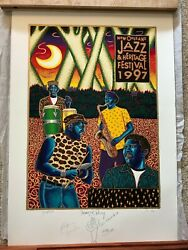 1997 New Orleans Jazz Fest Poster - Neville Brothers - Artist Proof - 34/99