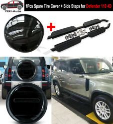Side Steps Running Boards Tire Tyre Cover Fit For Defender 110 L851 4d 2020 2021