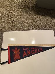 Vintage Rare La Angels Pennant 26 Inches Signed By Owner Gene Autry Jsa Coa