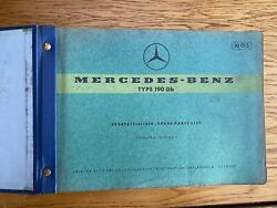 Mercedes Dealership Parts Catalog 1959 190d 10 008 / 190db 10 015 Body And Engine