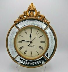 Two#x27;s Company Battery powered wall clock Antique look 11.5quot; across