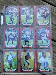 2017 Prizm Vikings Team Set - Red Power Parallels /49 - Cook Rc, Thielen, Diggs