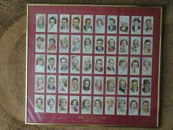 Players Cigarette Cards 1934 And 1938 2 Sets In Glass Frames