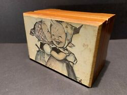 Vintage Hummel Wooden Music Box Raindrops Keep Falling On My Head Collectible