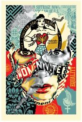 Sandra Chevrier X Shepard Fairey The Beauty Of Liberty And Equality Signed Print