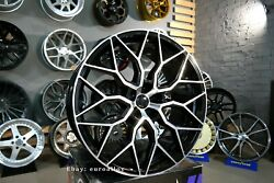 New 4x 23 Inch 5x120 Hf-2 Style Black Polished Wheels For Land Rover Range Sport