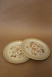 Vintage 80s Country Living Stoneware Dinner Plates by International China
