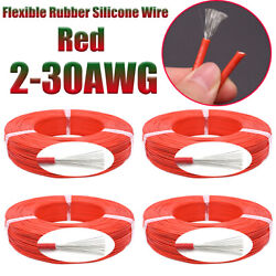 Red Flexible Rubber Silicone Ul Wire Cable 200℃ 600v Tinned Copper 2awg-30awg