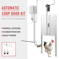 Automatic Chicken Coop Door Opener And Closer W Photocell Ir Sensor 2 Remotes 66w