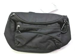 Athleta Via Waistbag 2.0 Black Crossbody Commuter Waist One Size Bag 599107 New $49.99