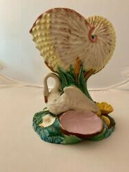 Antique Royal Worcester Majolica Swan Sweetmeat Server Great Condition