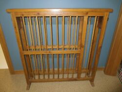 Antique Primitive Wooden Pine Spoon Carved Dish Plate Display Rack Dryer Drain