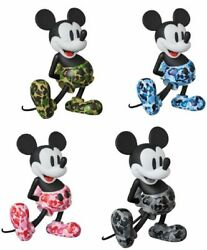 Medicom Toy Vcd Bape Mickey Mouse Set Of 4 From Japan F/s