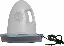 Kandh Pet Products Poultry Waterer Heated 2.5 Gallon Gray 16 X 16 X 15 2061