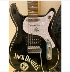 Esp Jack Daniel's Stratocaster Black Electric Guitar S/n 005 Shipped From Japan