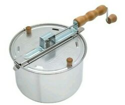 New Whirley Pop Stovetop Metal Popcorn Popper Wabash Valley Farms Free Shipping