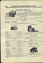 1907 Paper Ad 2 Sided Aetna Dynamite Blasting Supplies Contractors' Powder