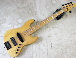 Atelier Z Mz-ctm5 Natural 5 String Electric Bass Guitar S/n 035227 And Soft Case