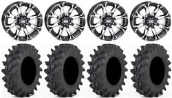 Sti Hd3 14 Wheels Machined 32 Outback Max Tires Can-am Commander Maverick