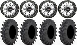 System 3 St-3 Machined 14 Wheels 32 Outback Max Tires Kawasaki Mule Pro Fxt