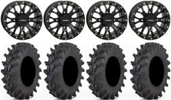 System 3 St-3 Black 14 Wheels 32 Outback Max Tires Can-am Commander Maverick