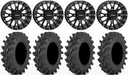 System 3 St-3 Bk 14 Wheels 28x9.5 Outback Max Tires Can-am Commander Maverick