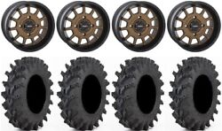 System 3 St-5 Bronze 14 Wheels 32 Outback Max Tires Kawasaki Mule Pro Fxt