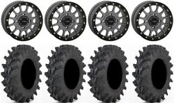 System 3 Sb-5 Grey 14 Wheels 32 Outback Max Tires Can-am Maverick X3